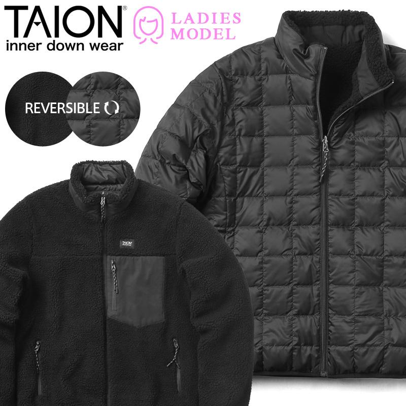 TAION タイオン TAION-WR102MB MOUNTAIN LINE ダウン/ボア リバーシブル ダウンジャケット WOMEN【Sx】【クーポン対象外】
