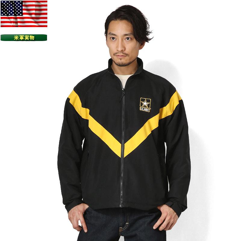 実物 新品 米軍 U.S.ARMY BLACK APFU トレーニングジャケット 《WIP03》【Sx】