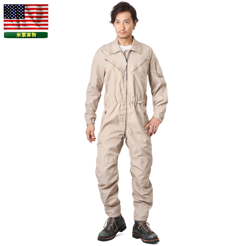 実物 新品 米軍 COMBAT VEHICLE CREWMEN'S カバーオール TAN 《WIP03》【Sx】