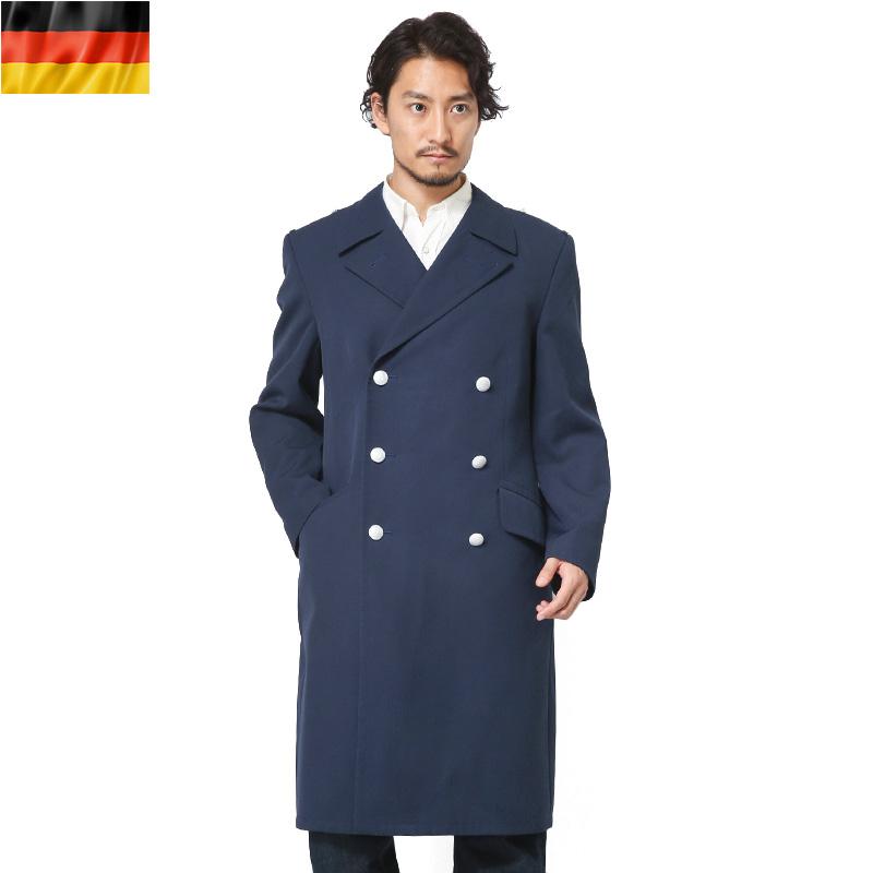実物 ドイツ軍エアフォース ブルーオーバーコート【Sx】