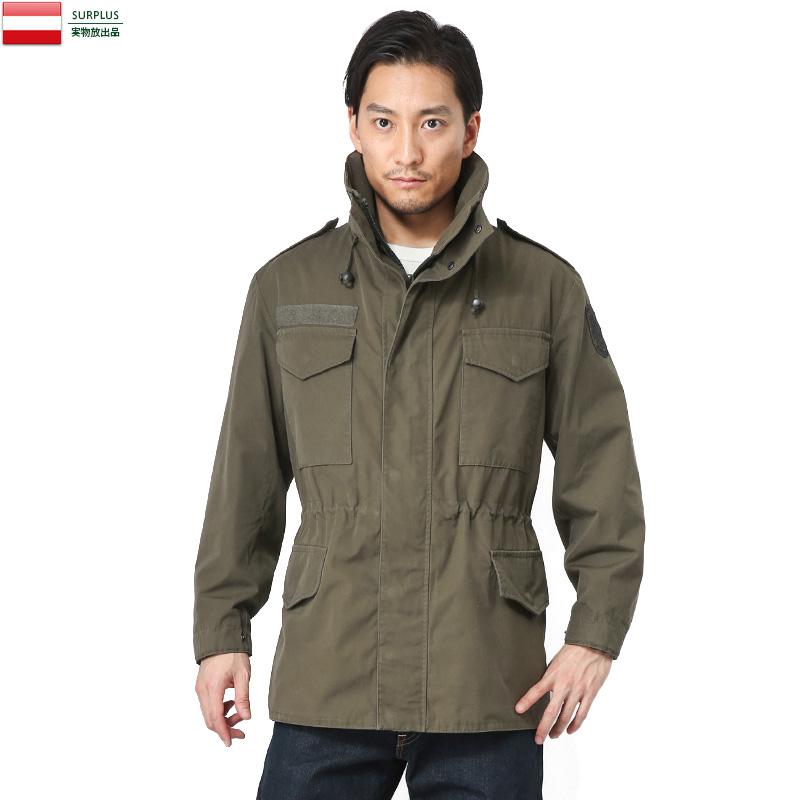 実物 オーストリア軍 ウォータープルーフ M-65フィールドジャケット【Sx】