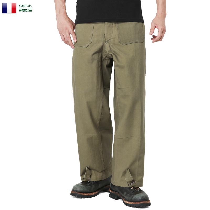 実物 新品 フランス軍 モーターサイクル パンツ 前期型 【クーポン対象外】
