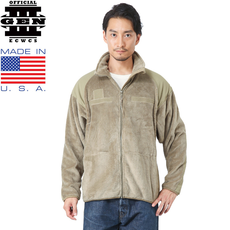 【店内20%OFFセール開催中】MADE IN USA FR-HQ製 ECWCS GEN3 フリースジャケット COYOTE TAN