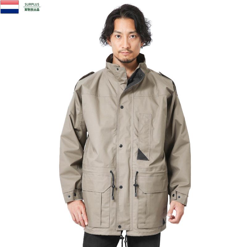 実物 新品 オランダ軍 キルティングライナー付き フィールドジャケット KHAKI【Sx】