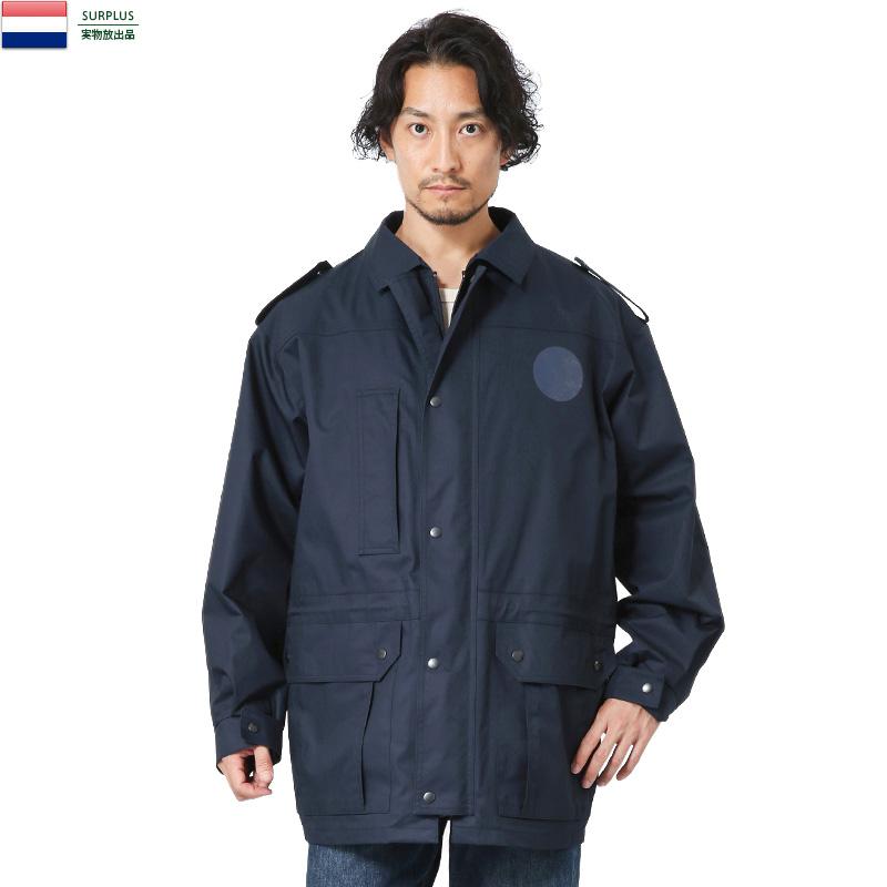 実物 新品 オランダ軍 キルティングライナー付き フィールドジャケット NAVY【Sx】
