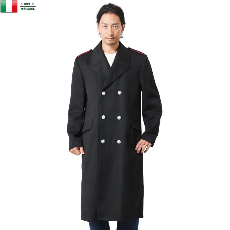 実物 新品 イタリア軍 国家憲兵隊 カラビニエリ ロングオーバーコート【Sx】
