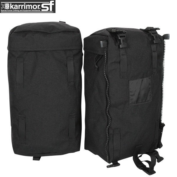 【10%OFFクーポン対象!】karrimor SF カリマー スペシャルフォース PLCE Side pockets pair BLACK 【PLCE Side pockets pair】《WIP03》pd【Sx】