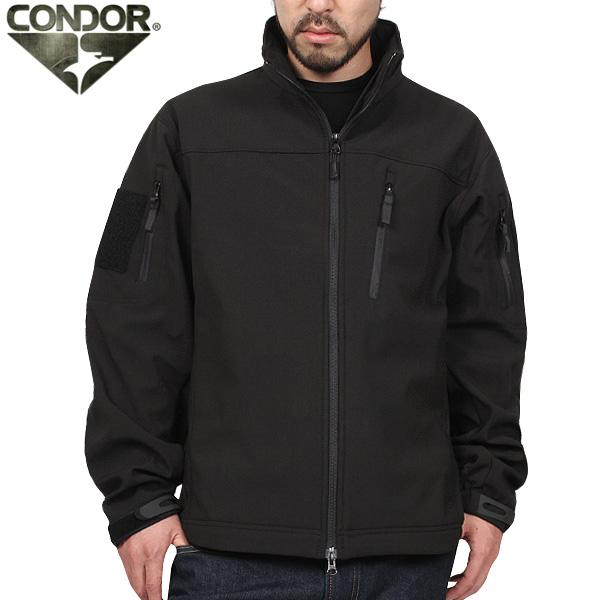 CONDOR コンドル 606 PHANTOM タクティカル ソフトシェルジャケット BLACK 【606】《WIP03》 【クーポン対象外】
