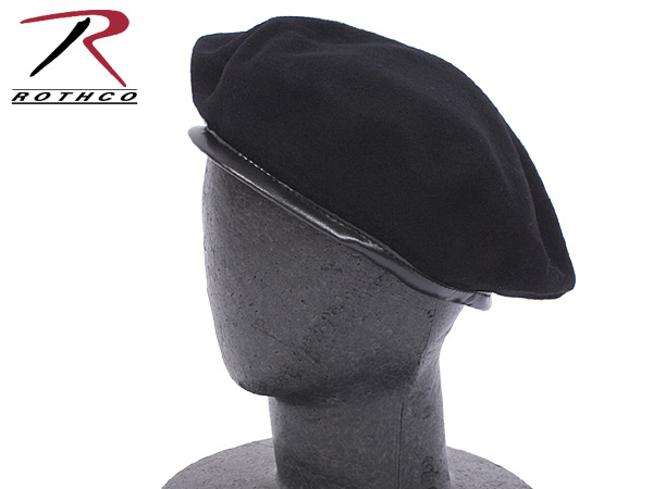 ROTHCO Roscoe U S  forces G I  beret black military cap << WIP03 >>