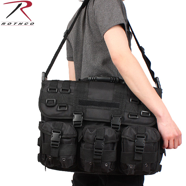 Rothco Rothko M O L E Tactical Laptop Briefcase Black Bag Military Of