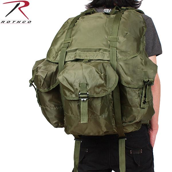 【店内20%OFFセール開催中】ROTHCO ロスコ 米軍リュック G.I ALICE PACK LARGE オリーブ 鞄 かばん ミリタリー アメリカ軍《WIP03》