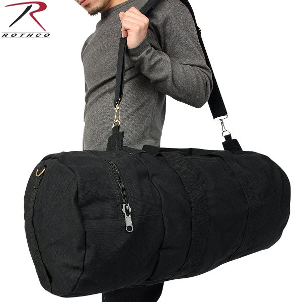 Bag durability ROTHCO Rosco DOUBLE-ENDER canvas sports bag black for  various applications are available 94fa71ba16d