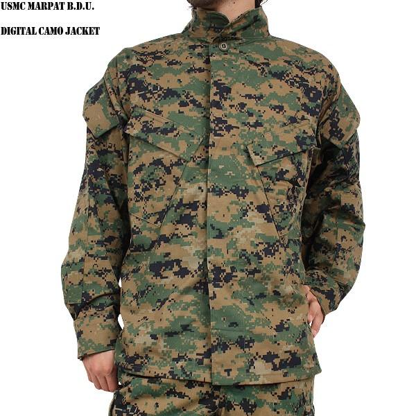 實物新貨美國海軍陸戰隊USMC MARPAT B.D.U DIGITAL CAMO茄克USMC的文字被隨機印刷的是看不見的打扮