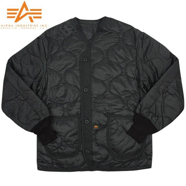 ALPHA アルファ M-65 フィールドジャケット用ライナー ブラック【2065-001】《WIP03》【Sx】