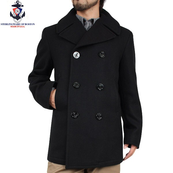 b3e1954eda1 Is easy to wear it with the 24oz specifications that are rather lighter  than STERLINGWEAR OF BOSTON sterlingware M21 AUTHENTIC pea coat black  traffic very ...