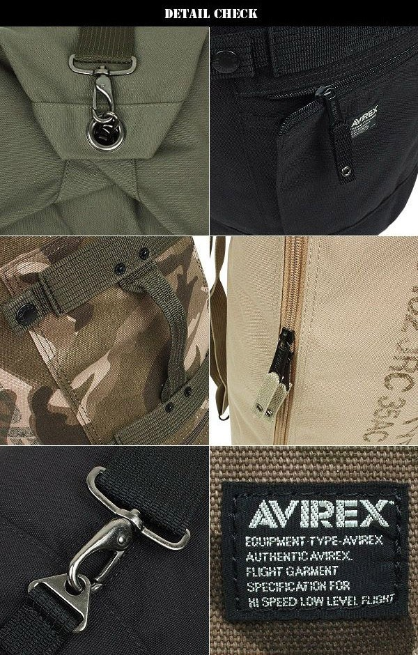 AVIREX avirexl 鷹軍用行李袋卡其布規格戶外深管狀設計的存儲能力的工作人員和騎自行車的人會推薦