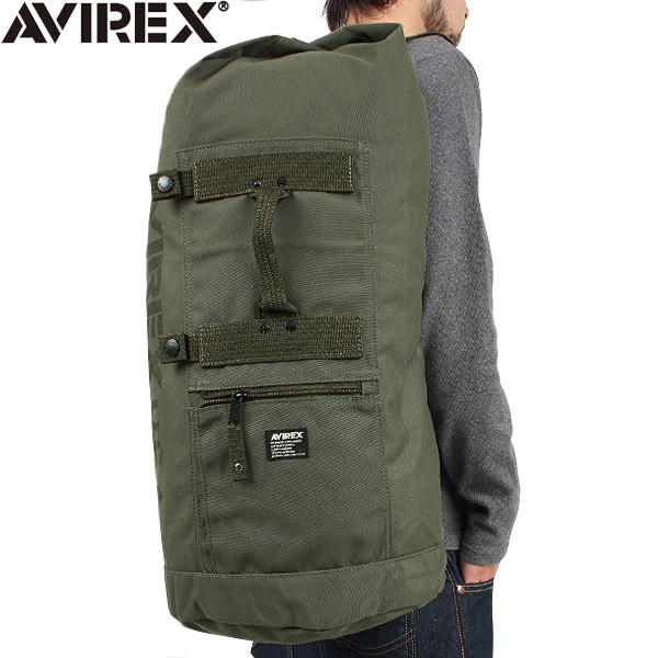 AVIREX-avirex EAGLE military Duffle Bag khaki recommended specifications  outdoor deep cylindrical design capacity of staff and bikers 6d95c8203ed