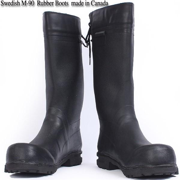 【25%OFFクーポン対象】実物 新品 スウェーデン軍 M-90ラバーブーツ カナダ製 《WIP03》優れ物の実用性の高いオシャレな長靴 取り外し可能なライナー付き 【ミリタリーブーツ】【長靴】