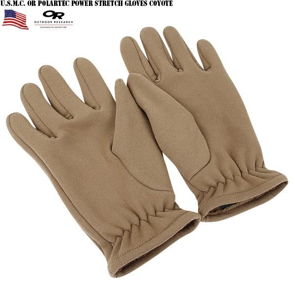 新貨美國海軍陸戰隊U.S.M.C. 混紡把OR Polartec Power Stretch GLOVE Coyote優秀的透氣性和透潮性有魅力的手套X-STATIC抗菌抗味道性材料換成的材料感覺