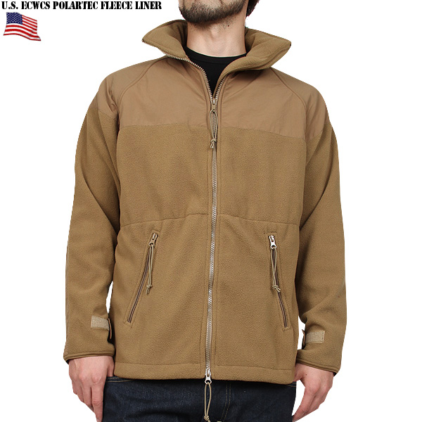 Real brand new US Army U.S.M.C. Made in PECKHAM Inc. has delivered many  (Polartec) ECWCS POLARTEC fleece jacket COYOTE BROWN contract number with  actual ... dca4f9ccc6f