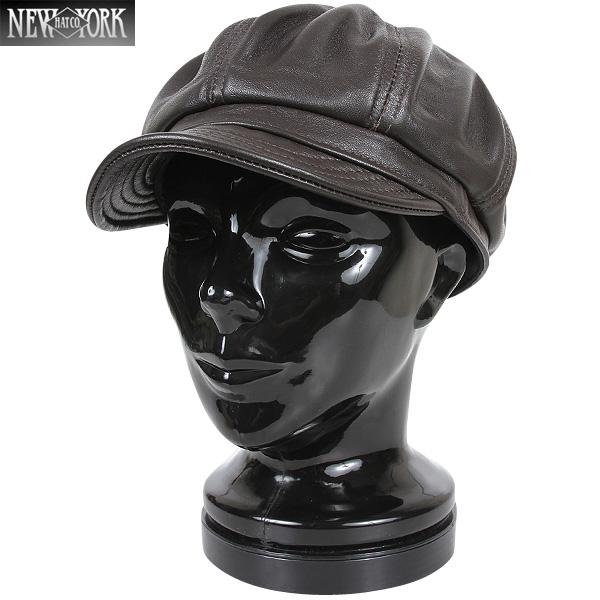 【20%OFFクーポン対象】New York Hat ニューヨークハット 9207 Lambskin Spitfire キャスケット ブラウン 【9207】 キャスケット型「Spitfire」にレザー仕様 レザーならではの触り心地と被り心地【WIP03】