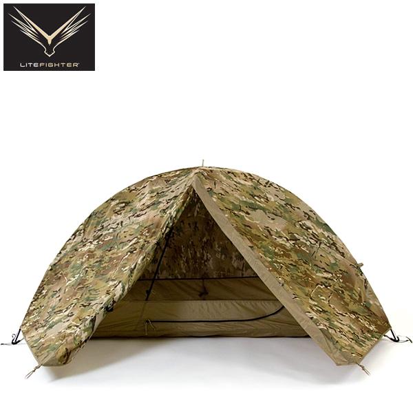 "LITEFIGHTER 系統公司的 LITEFIGHTER 輕型戰鬥機 FIDO 1 住房系統帳篷 MULTICAM 美國軍事交付的帳篷帳篷""LITEFIGHTER 1 住房""制度推行。 罕見的菜通過 MultiCam。"