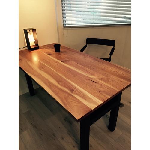 【福島県産】ふるさとの木で生まれる家具 テーブル オニグルミ