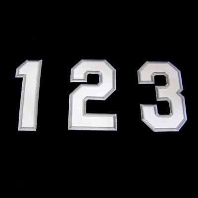 各種ユニホームや衣類にどうぞ 現金特価 胸番号ワッペン 乙 白地グレー縁野球 サッカー バスケ 入園 入学 高校 小学校 アップリケ 大規模セール 保育園 中学校 幼稚園 運動会 応援