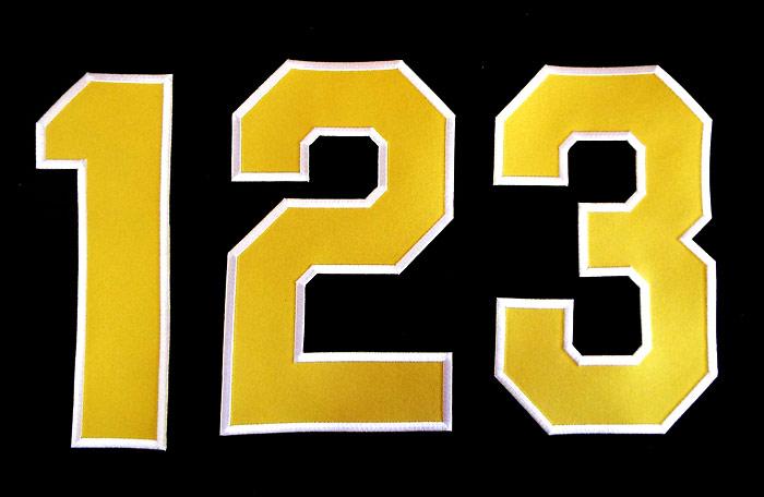 目指せリーグ優勝 目指せ日本一 プロ野球 新作送料無料 阪神タイガースグッズ 現行版 2020春夏新作 黄地白縁 背番号ワッペン