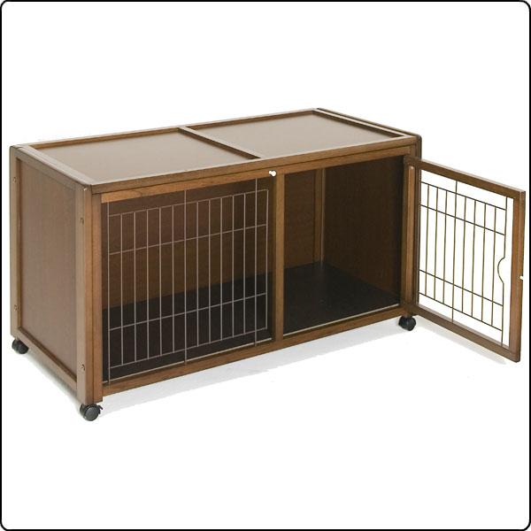 ペットケージハウス/ 天井開放 AS 120 [犬・猫用/ 木製/ 天井開放 [犬・猫用/ キャスター付き](ケージ・ゲージ・サークル), e-LIGHT SHOP/いいライトのお店:cbc2fbcb --- officewill.xsrv.jp