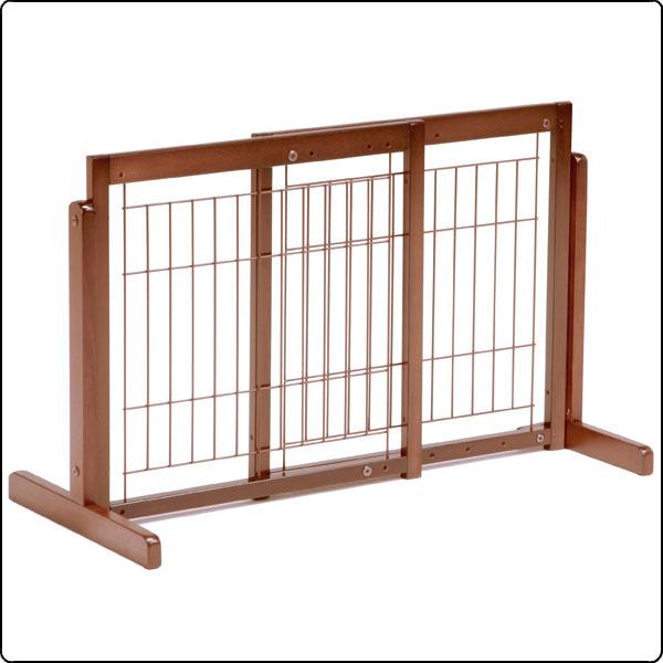 スタンドゲート 60A メッシュ [木製 / 横幅調整 / 置くだけ設置](ゲート・仕切り・フェンス)