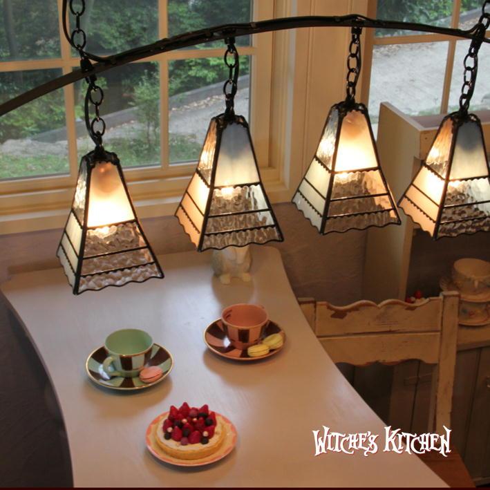 ペンダントライト 【Arietta・アリエッタ】 LED対応 クラシック 4灯 ステンドグラス ランプ
