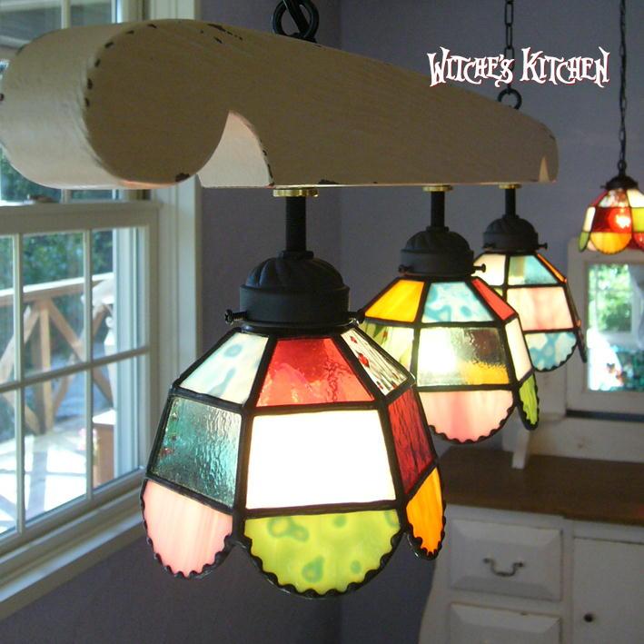 ペンダントライト 【3Lights Susie・スージー】 LED対応 ポップ 3灯 ステンドグラス ランプ