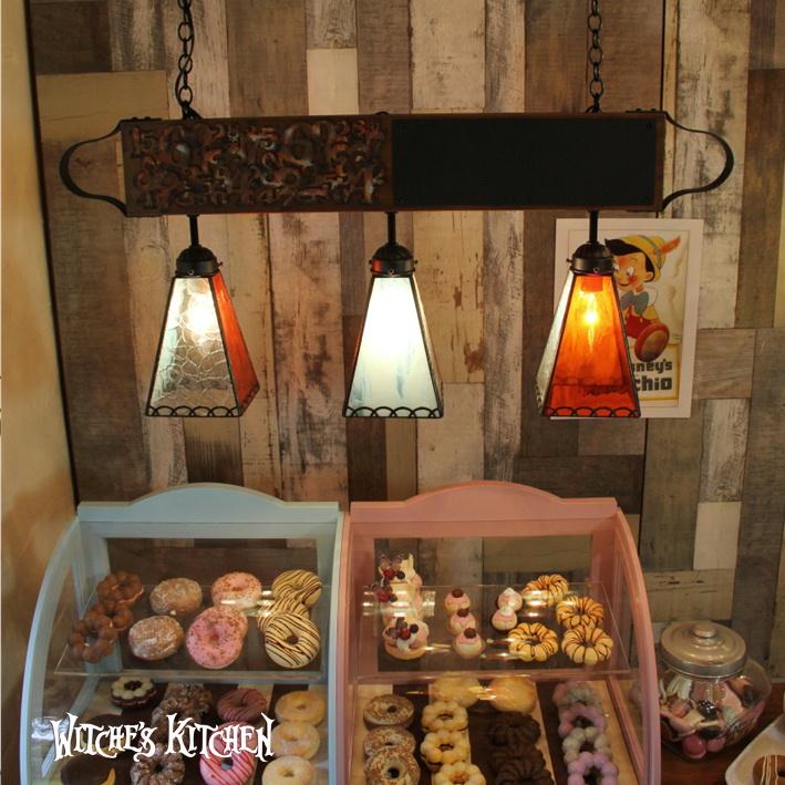 ペンダントライト 【3Lights Janet・ジャネット】 LED対応 ブルックリン スタイル カフェ 3灯 ステンドグラス ランプ