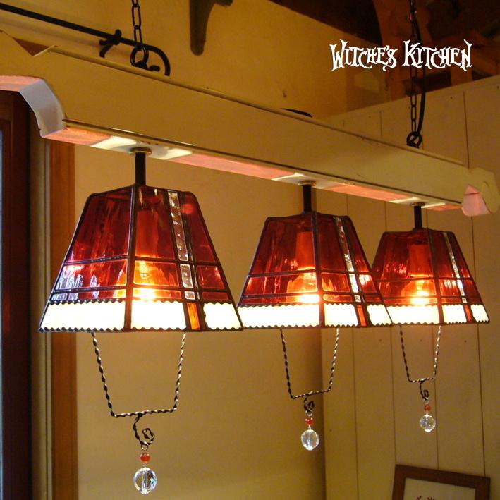 ペンダントライト 【3Lights Michel・ミシェル】 LED対応 クリスマス 3灯 ステンドグラス ランプ