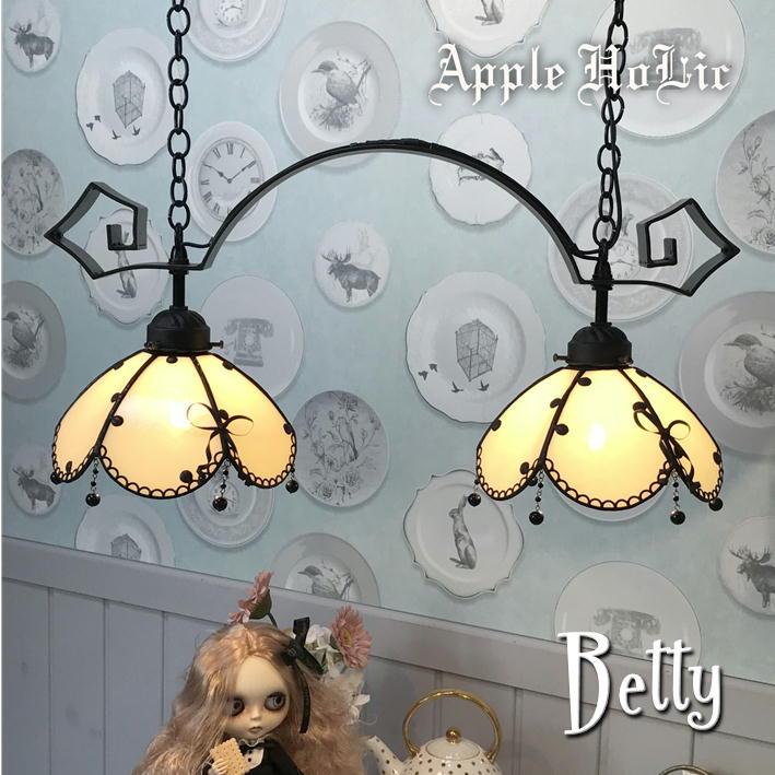 ペンダントライト 【2Lights Betty・ベティー】 LED対応 ドット 2灯 ステンドグラス ランプ