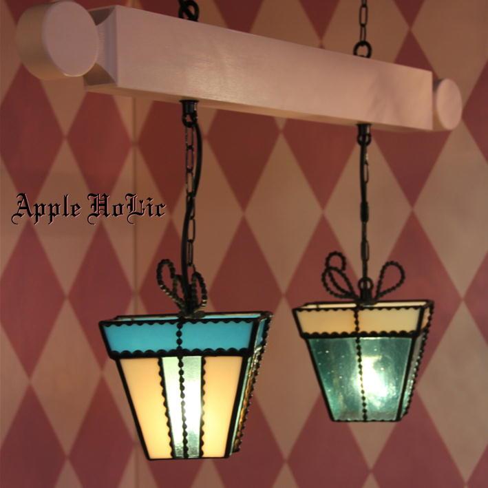 ペンダントライト 【2Lights Tender Heart・テンダーハート】 LED対応 プレゼント 2灯 ステンドグラス ランプ
