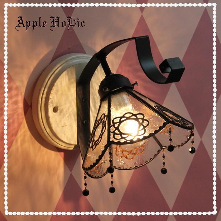 ブラケットライト 【Ashley・アシュリー】 LED対応 フラワー 壁掛け照明 ステンドグラス ランプ