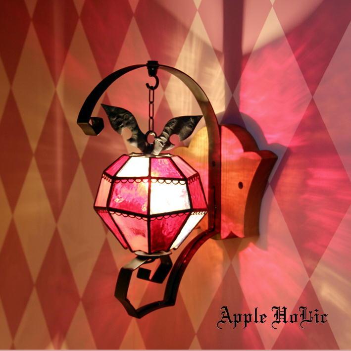 ブラケットライト 【Crazy Apple・クレイジーアップル】 LED対応 スイーツ 壁掛け照明 ステンドグラス ランプ