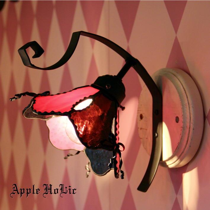 ブラケットライト 【Elise・エリーゼ】 LED対応 リボン 壁掛け照明 ステンドグラス ランプ