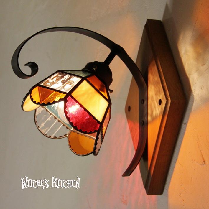 ブラケットライト【Orangette・オランジェット】LED対応 オレンジ 壁掛け照明 ステンドグラス ランプ ブラケットライト