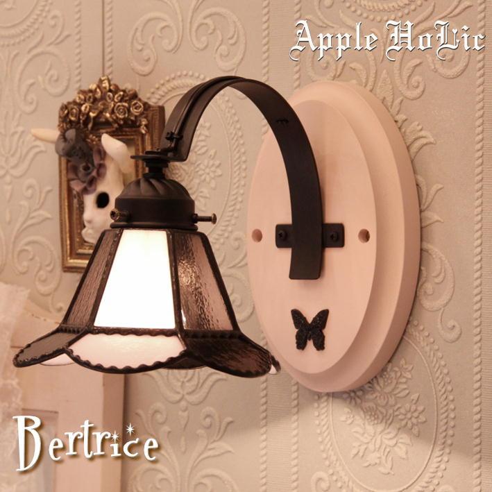 ブラケットライト 【Beatrice・ベアトリーチェ】 LED対応 リボン 壁掛け照明 ステンドグラス ランプ