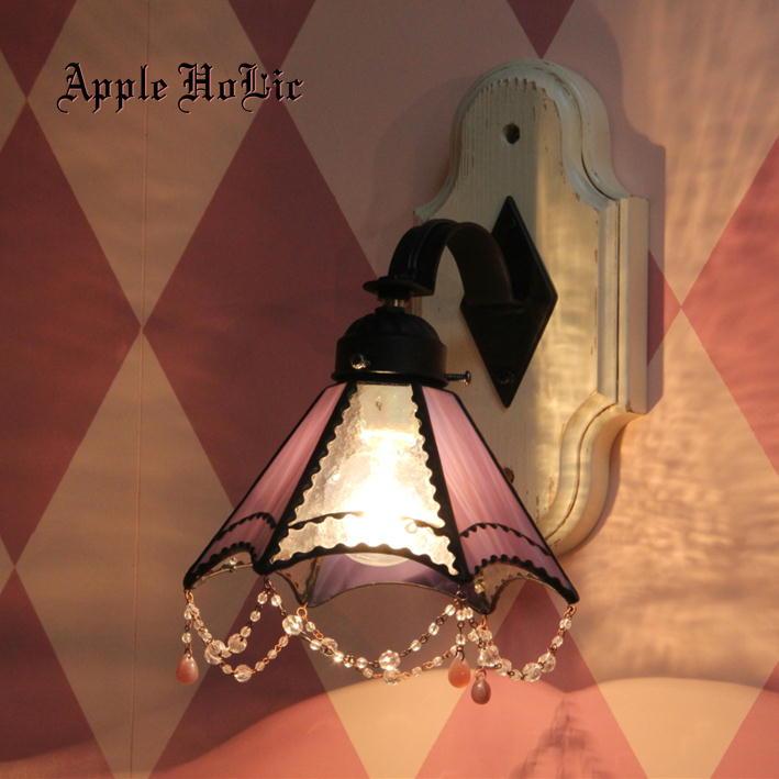 ブラケットライト 【Jillian・ジリアン】 LED対応 レース クラシック 壁掛け照明 ステンドグラス ランプ