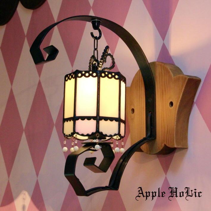 ブラケットライト 【Marie Belle・マリィベル】 LED対応 リボン 壁掛け照明 ステンドグラス ランプ