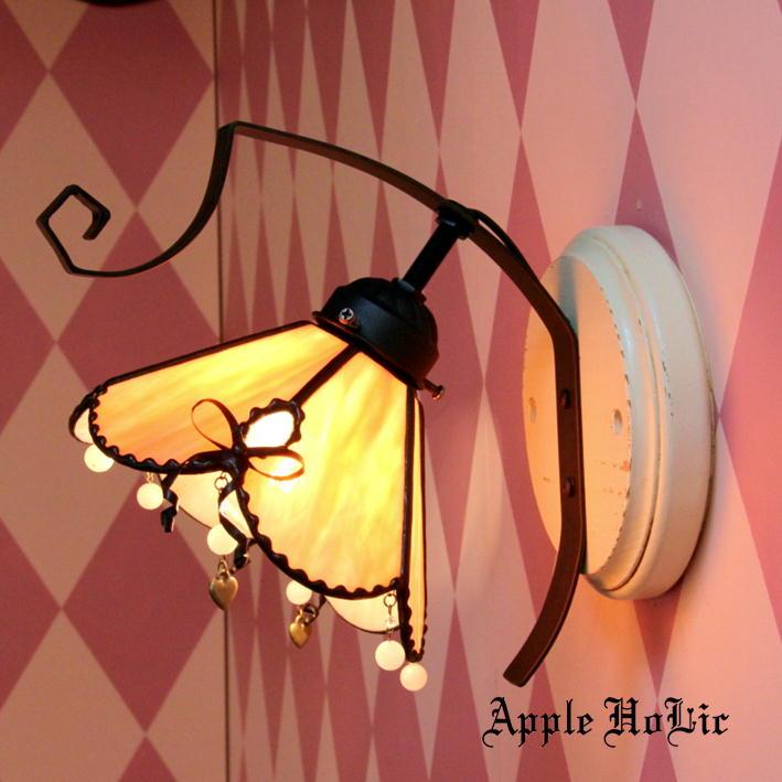 ブラケットライト 【Monique・モニーク】 LED対応 リボン 壁掛け照明 ステンドグラス ランプ