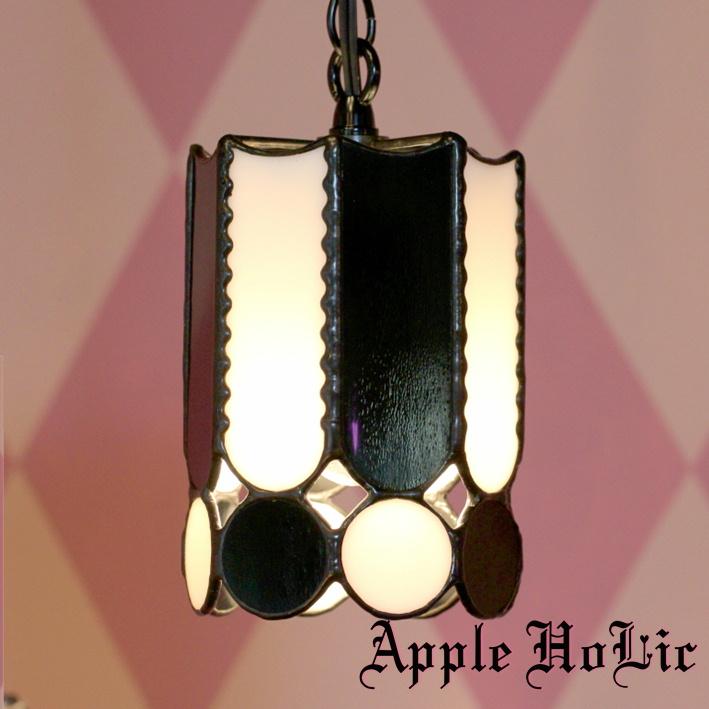 ペンダントライト 【Black Knight・ブラックナイト】 LED対応 チェス ステンドグラス ランプ