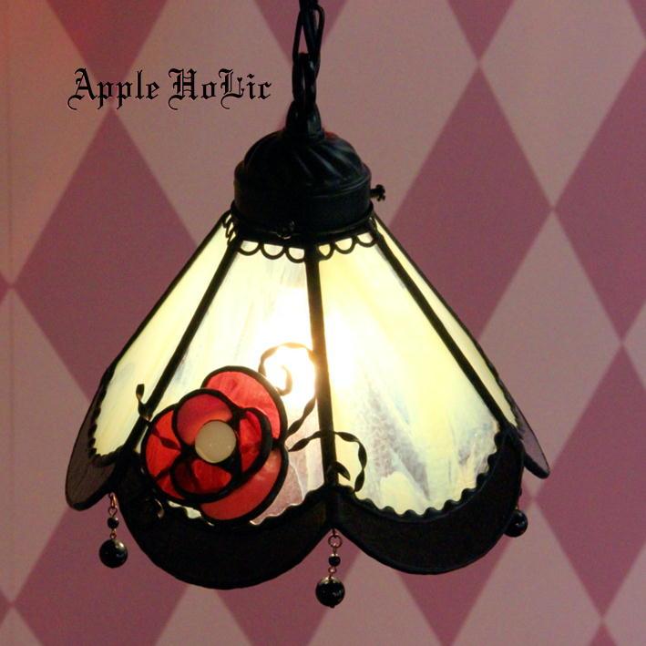 ペンダントライト 【Brigitte・ブリギッテ】 LED対応 フラワー ステンドグラス ランプ