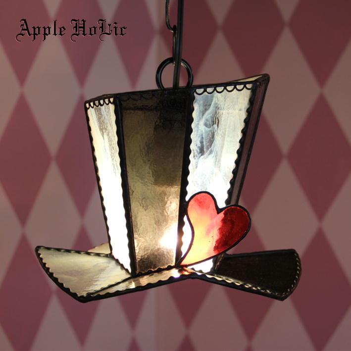 ペンダントライト 【Gentle Hat・ジェントルハット】 LED対応 ハット ステンドグラス ランプ