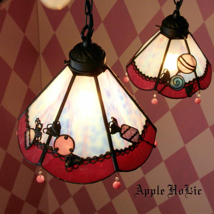 ペンダントライト 【Lollypop・ロリポップ】 LED対応 キャンディー スイーツ ステンドグラス ランプ
