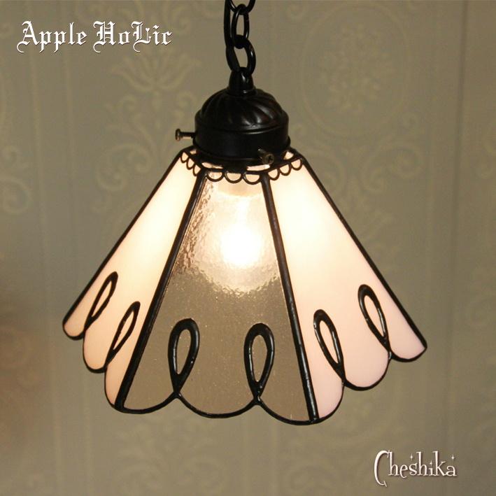 ペンダントライト 【Cheshika・チェシカ】 LED対応 クラシック レース ステンドグラス ランプ
